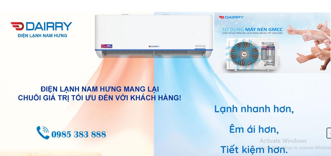 Dieu hoa Dairry 1 chieu DR12-SKC 12000BTU tai Hai Phong