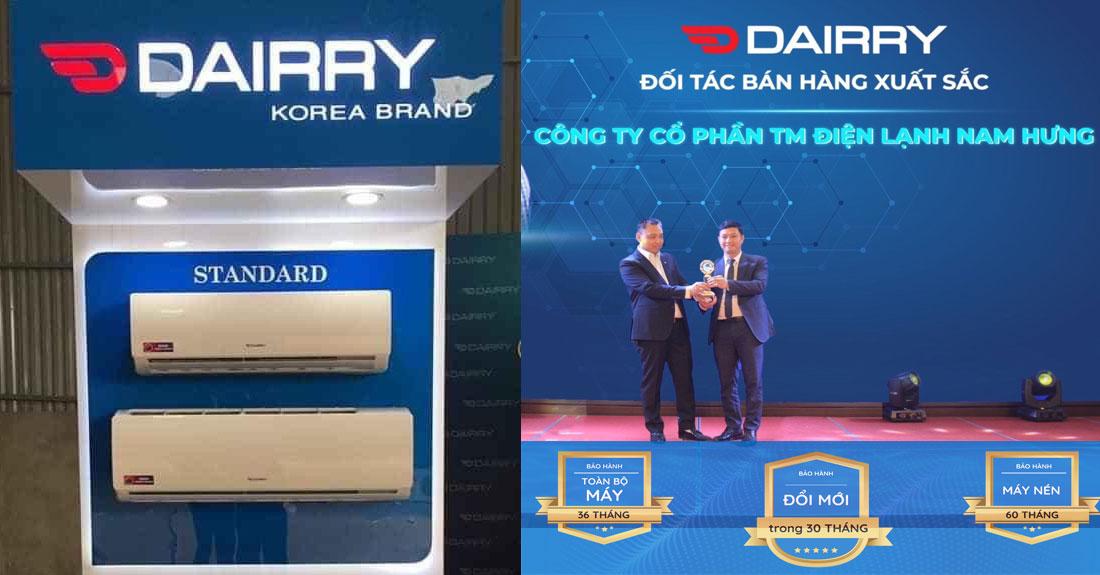 Phan phoi chinh thuc dieu hoa Dairry DR12-KH tai Hai Phong