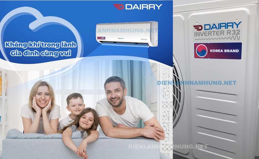 Dieu hoa Dairry i-DR09LKC 9000BTU 1 chieu inverter Gas R32