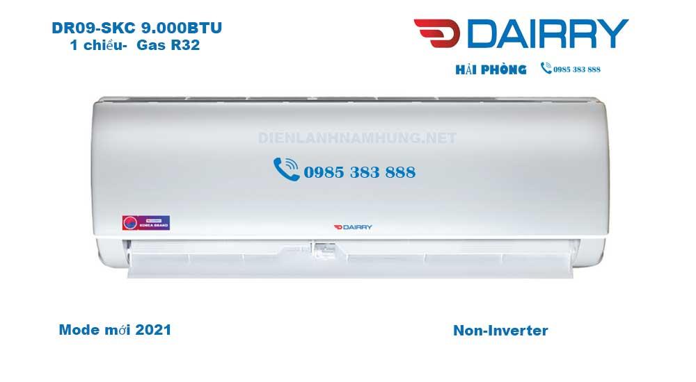 Dieu hoa Dairry DR09-SKC 9000BTU Model doi moi 2021 tai Hai Phong