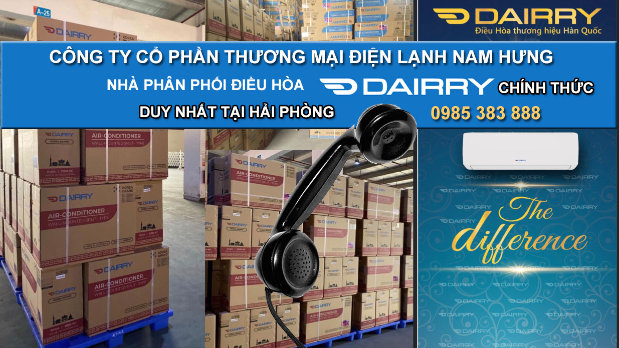 Phan phoi dieu hoa dairry 1 chieu DR12-SKC tai hai phong